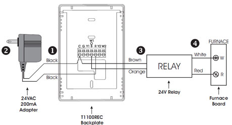 trailer wiring diagram  thermostat required complex
