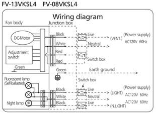 Extraordinary Panasonic Ventilating Fan Switch Wiring Diagram