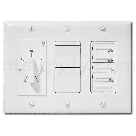 deluxe 20 amp switch combo for heater fan light nightlight white. Black Bedroom Furniture Sets. Home Design Ideas