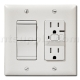 2-Function Switch + GFCI Oulet and Nightlight - White
