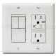 3-Function Switch + GFCI Oulet and Nightlight - White