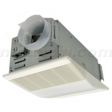 Buy nutone heat a vent bathroom fan with heater and light model 665rp broan nutone 665rp for Nutone bathroom exhaust fan installation