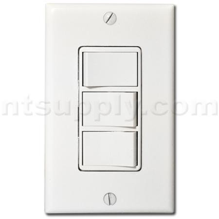 Buy three function fan control switch broan nutone 66w - Bathroom exhaust fan control switch ...