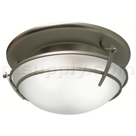 Buy Broan Model 757SN Decorative Fan / Light - Glass with Satin Nickel ...