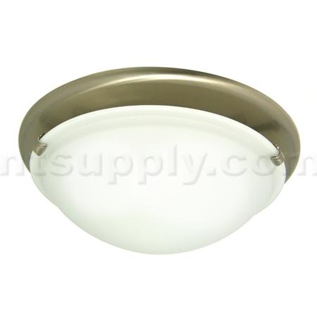 Broan Model 761BN Decorative Fan / Light   Glass With Brushed Nickel