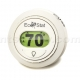 EcoStat Mercury-Free 1 Heat/1 Cool Non-Programmable Round Thermostat