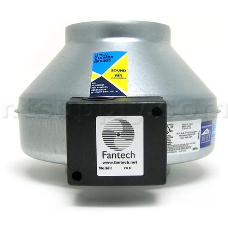 Fantech FG6XL Inline Centrifugal Fan   Galvanized Steel   450 CFM
