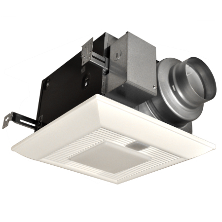 panasonic whispergreen lite bathroom fan with dc motor lights fv. Black Bedroom Furniture Sets. Home Design Ideas