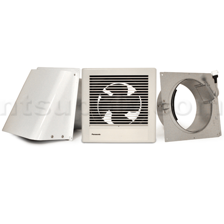 Wall mount bathroom fan bath fans for Exterior mounted exhaust fans for bathroom