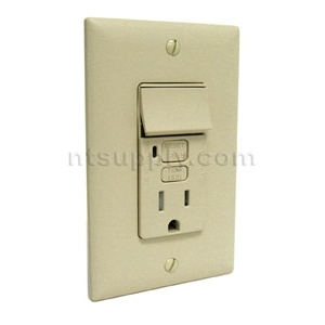 Buy Bathroom Kitchen Gfci Outlet Switch Combo Ivory P S 1595swttricc4