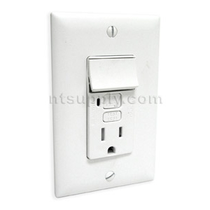 Bathroom Vanity Light Gfci : Buy Bathroom / Kitchen GFCI Outlet / Switch Combo - White P&S 1595SWTTRWCC4