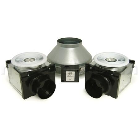 Fantech PB270H 2 Premium Bath Fan Kit With Dual Grilles And Halogen Lights    270 CFM