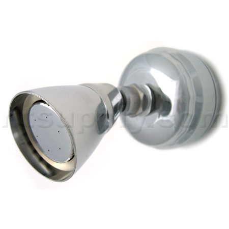 buy sprite slim line solid brass universal shower filter with head chrome sprite industries. Black Bedroom Furniture Sets. Home Design Ideas