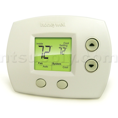 TH5110D1006_5w buy honeywell focuspro 5000 non programmable 1 heat 1 cool honeywell non programmable thermostat wiring diagram at alyssarenee.co