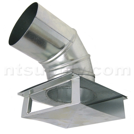 Buy 6 universal wall soffit exhaust vent american for 3 bathroom exhaust vent