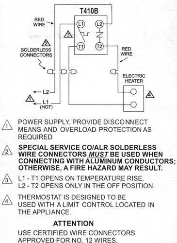 T410BInset honeywell line voltage thermostat wiring diagram wiring diagram honeywell line voltage thermostat wiring diagram at bakdesigns.co